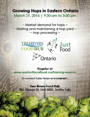 Eastern Ontario Hops Workshop