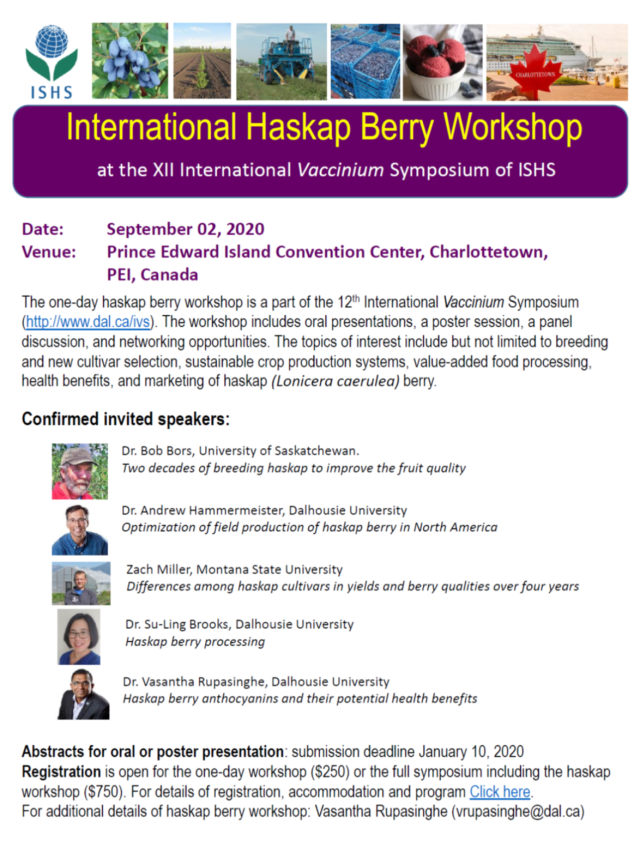 International Haskap Berry Workshop 2020