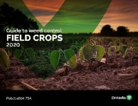 The front cover of OMAFRA Publication 75A Guide to Weed Control Field Crops 2020